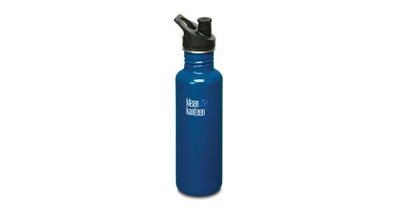 Klean Kanteen Classic Trinkflasche mit Sport Cap 800ml blue planet